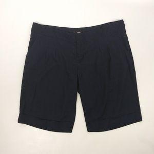 Mossimo Shorts Linen Blend Bermudas Navy Blue